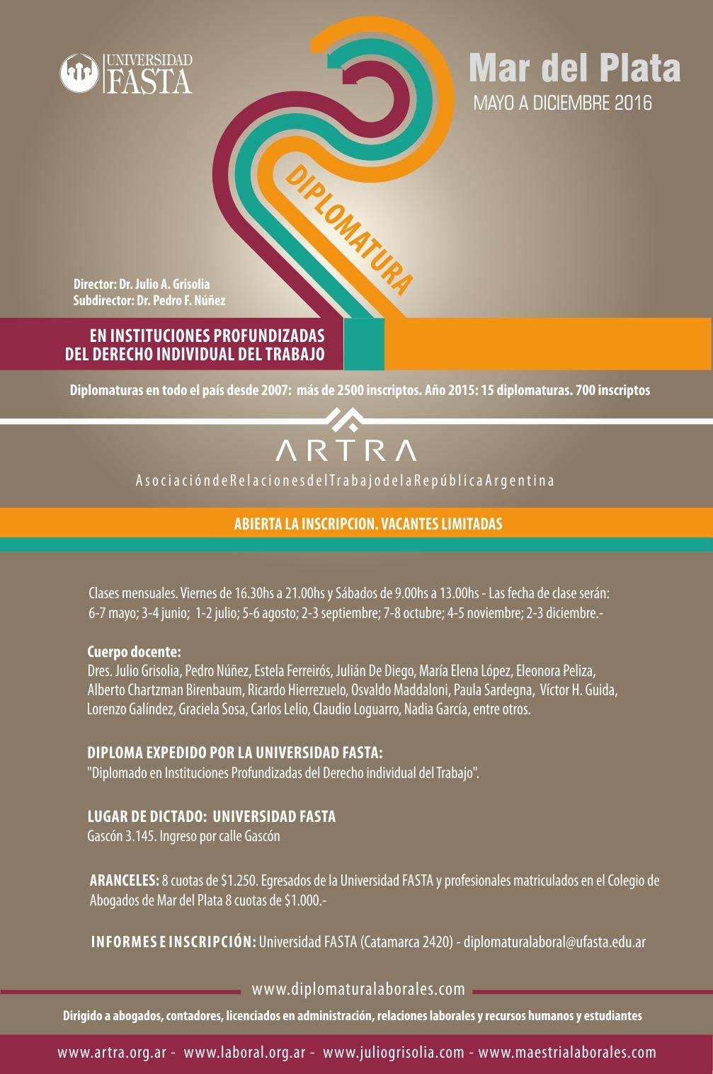 DIPLOMATURA 2016 - INST. INDIVIDUALES DCHO TRABAJO